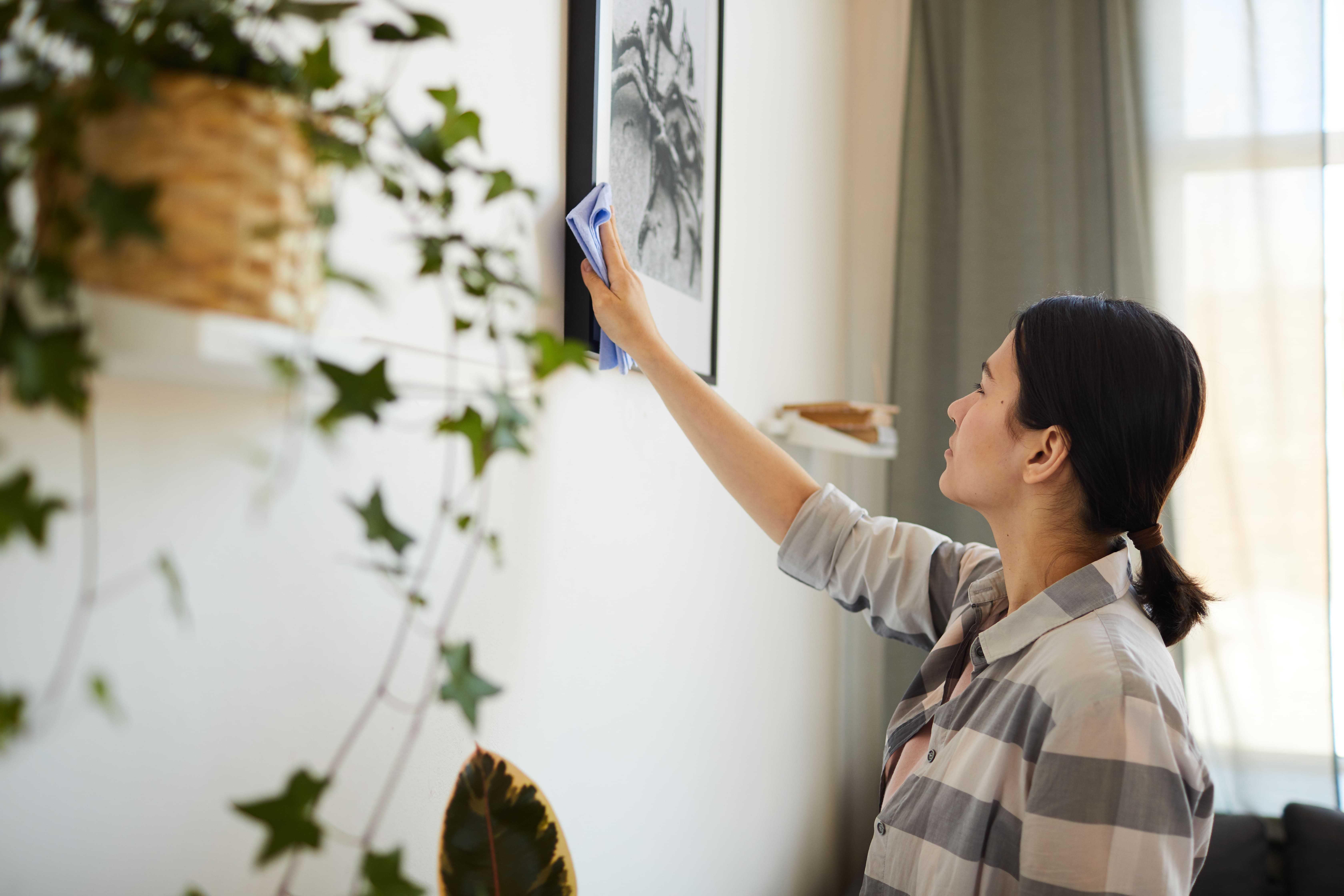 Auch Pflanzen und Bilderrahmen sind Staubfänger.