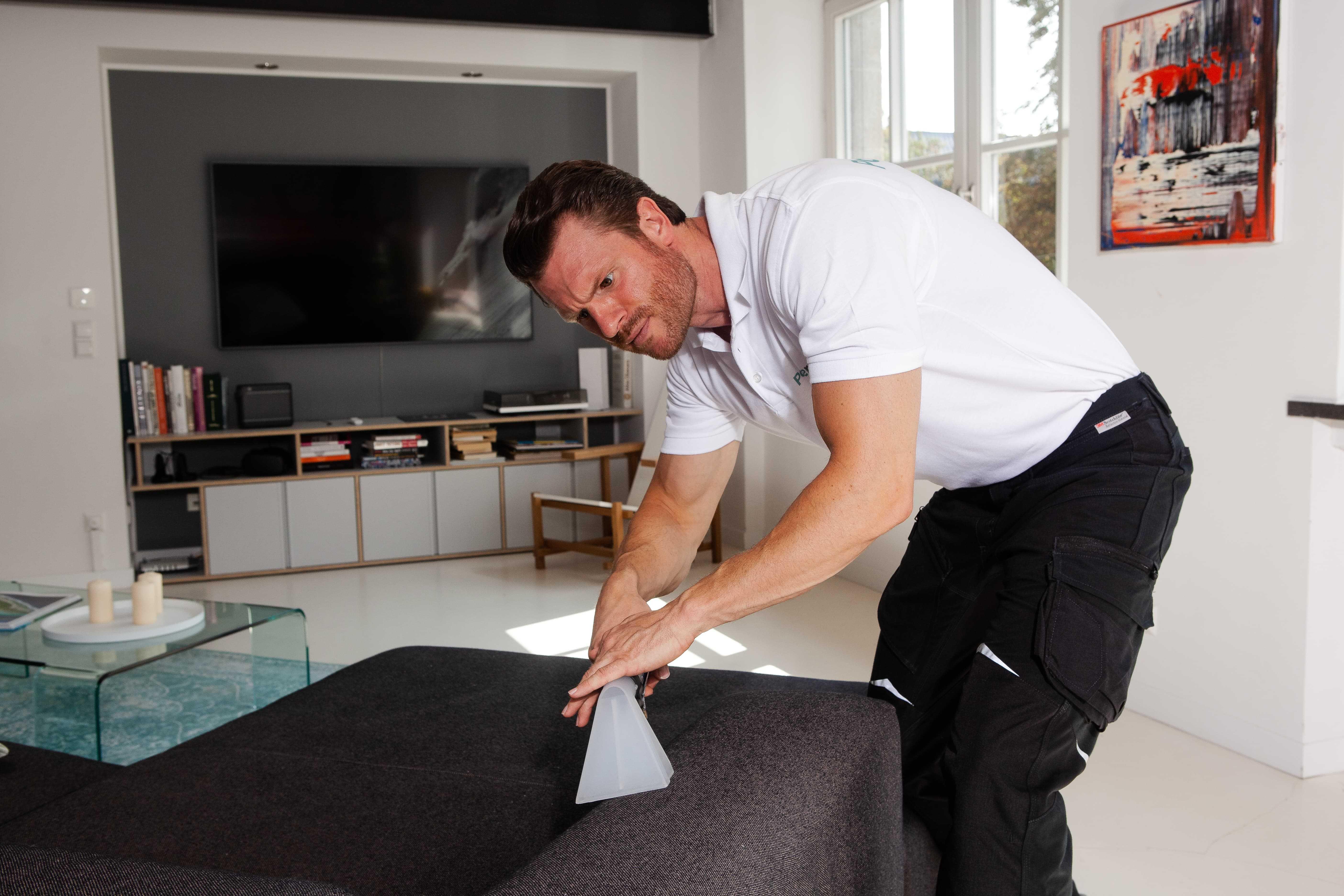 Auch das Sofa und andere Polster sollten regelmäßig gereinigt werden.